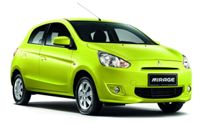 Mitsubishi-Mirage-yellow